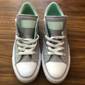 Brand new grey and teal Converse sneakers